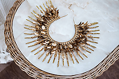 Ozdoby do vlasov - Zlatá Halo crown s glitrami - 12126396_