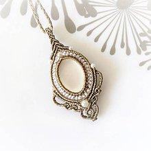 Náhrdelníky - Macramé náhrdelník Day - 12124847_