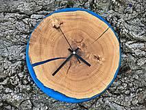 Hodiny - Nástenné hodiny z dubového dreva - 12127910_