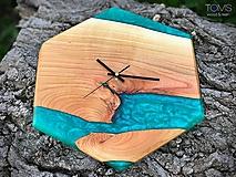 Hodiny - Nástenné hodiny z čerešňového dreva - 12127924_
