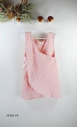 Detské oblečenie - Mušelínové šaty detské - SVETLORUŽOVÉ - 12128064_