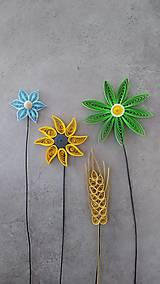 Drobnosti - Zelený kvet - zapichovačka do kvetináča - 12124866_