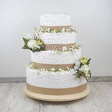 Detské doplnky - Plienková torta biela štvorposchodová - 12126285_