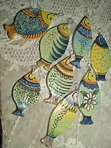 Dekorácie - keramické dekorácie..rybky - 12127660_