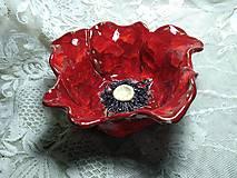 Nádoby - keramika misa vlčí mak... - 12127900_