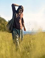 Nohavice - Lněné turky Khaki - 12126750_