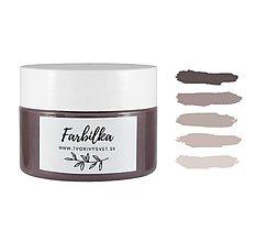 Farby-laky - Farbilka 100ml - sivo hnedá - 12125640_