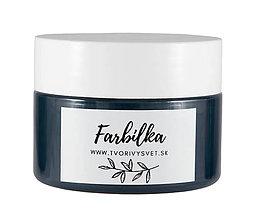 Farby-laky - Farbilka 100ml - havrania čierna - 12125647_