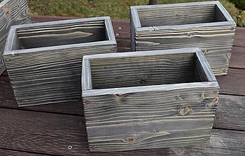 Nábytok - Bednička dizajn stare drevo - 12125530_