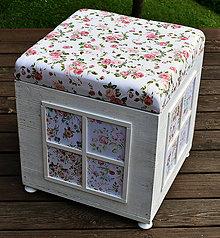Nábytok - Kocka ružičky - 12125549_