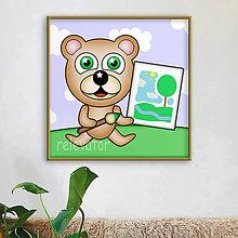 Detské doplnky - Macko Ivan - maliar - 12127719_