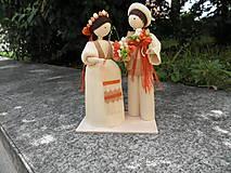 Dekorácie - Šúpolienky svadobný pár 3 - 12129122_