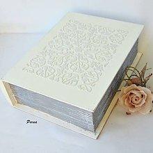 Krabičky - Svadobná kniha - reliefová - 12128620_