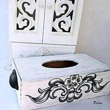 Krabičky - Drevená krabica na vreckovky- Antique - 12131215_
