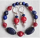 Sady šperkov - Lapis lazuli- variácie - 12130647_