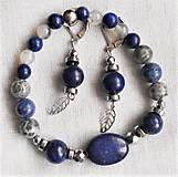 Sady šperkov - Lapis lazuli- variácie - 12130662_