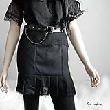 Sukne - Gotická mini sukňa - 12130956_