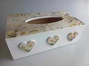 Krabičky - HM - Krabička na papierové vreckovky - podstava obdĺžnik - 12129993_