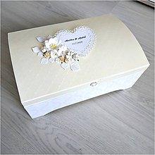 Krabičky - Svadobná truhlica - 12129023_