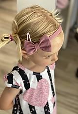 Detské doplnky - Tenká čelenka s mašličkou  (Čelenka 1ks) - 12128174_