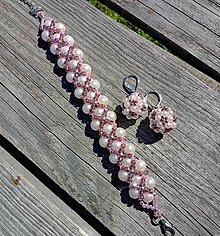 Sady šperkov - Náušnice a náramok - 12131128_