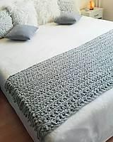 Úžitkový textil - HYGGE háčkovaná deka na posteľ - 12128460_