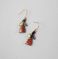 Náušnice - TANA hand made jewellery - keramika/zlato - 12128442_