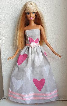 Hračky - Srdiečkové dlhé šaty pre Barbie - 12131595_