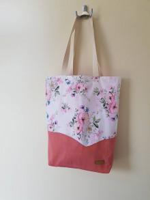 Nákupné tašky - Taška biela  - záhrada - 12129724_
