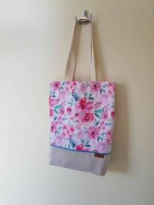 Nákupné tašky - Taška - ružová záhrada - 12129729_