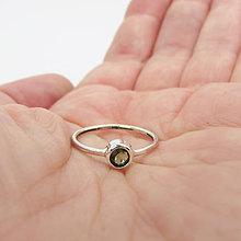 Prstene - Brink! August: Vltavín / strieborný prstienok - 12131343_
