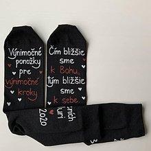 Obuv - Maľované ponožky pre ženícha (v Bohu sme si bližší) - 12131056_