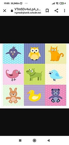 Textil - Nepremokavý materiál zvieratká - 12131449_