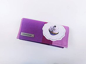 Peňaženky - Priehradková peňaženka zo scrapu  Little Frog Sunny Agate s muffinom - 12133614_