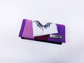 Peňaženky - Priehradková peňaženka zo scrapu  Little Frog Sunny Agate s venčekom - 12133620_
