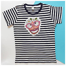 Detské oblečenie - Detské pásikavé tričko - OčiPuči sladká LULU - 12132187_