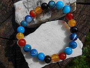 Náramky - Egypt colors in summer-náramok achát,citrín,karneol - 12135638_