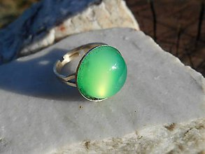 Prstene - calcedônia  verde ring-chalcedón - 12135678_