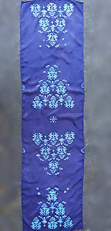 Šály - Večerné nuansy-hodvábny maľovaný šál - 12131939_