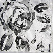 Papier - Servítka  G 115 -Amanda dark grey - 12134957_