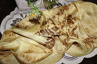 Šatky - silk scarf_hodvábna šatka_yellow_žltá - 12133669_
