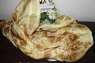 Šatky - silk scarf_hodvábna šatka_pareo_yellow_žltá - 12133711_
