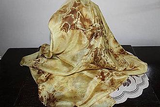 Šatky - silk scarf_hodvábna šatka_yellow_žltá - 12133729_