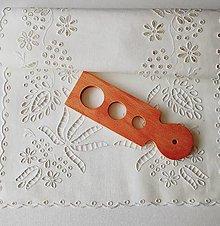Úžitkový textil - Richelieu - Ľudová tvorba, biela,  66,5 x 36 cm - 12135470_