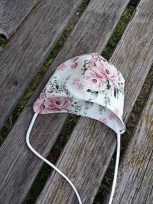 Detské čiapky - Kvetinová novorodenecká - 12134948_