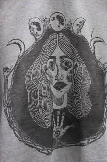 Tričká - Tričko s linorytovou potlačou - Múza - 12135649_