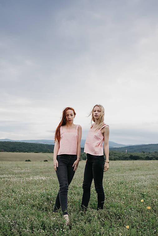Topy - Tričko basic ružové - 12132403_