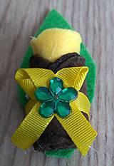 Pierka - Pierko žltá ružicka z filcu - 12134039_