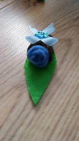 Pierka - Pierko modrá ružička z filcu - 12134063_