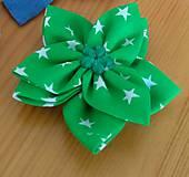 Ozdoby do vlasov - Zelený kvet - 12134143_